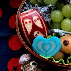 簡単 キャラ弁 りんご 飾り切り⑤