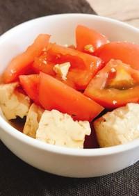 トマトと豆腐の中華風サラダ:-)