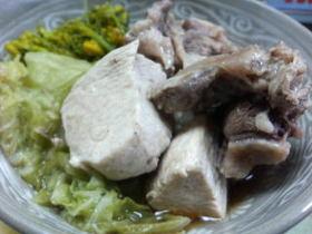 合鴨と鶏の鍋
