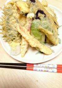 余り物の野菜で天ぷら!!