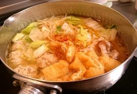 即興の味噌ちゃんこ鍋