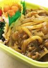 お弁当に☆レンジでカレーうどん(汁なし)