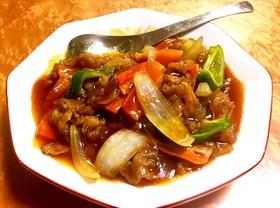 酢豚 揚げない豚肉 レンチン野菜