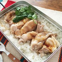 炊飯鍋でカオマンガイ
