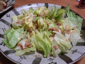 超シンプルでも美味しいレタスサラダ♪