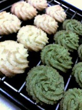 簡単 抹茶クッキー&ココナッツクッキー