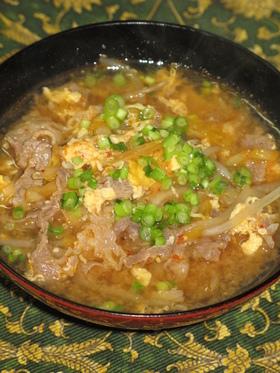キムチと牛肉ともやしのスープ
