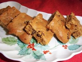 くるみ&レーズンの黒糖クッキーケーキ♪