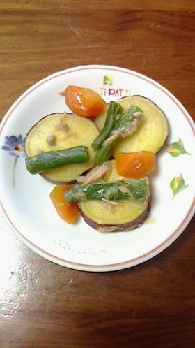 簡単☆薩摩芋のツナ煮 いんげんと人参も