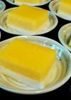 簡単‼黄桃と牛乳の2色ゼリー