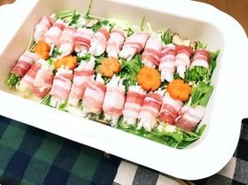 〆まで美味しい♡豚バラ大根ロール鍋