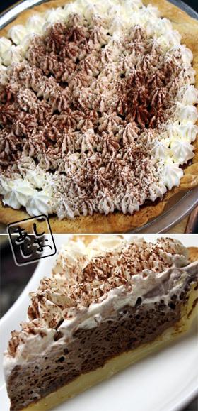 手作りパイ生地deチョコムースのパイ
