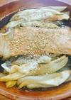 ナスと鮭の照り焼き風ホイル焼き