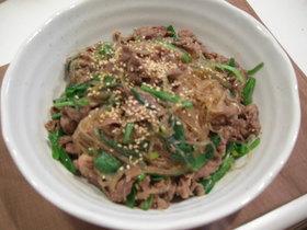 簡単スピーディー☆牛肉と春雨の炒め煮