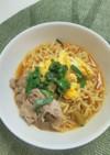 ☆アレンジレシピ☆豚肉と卵の辛ラーメン