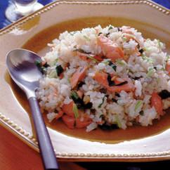 鮭と三つ葉の炒飯