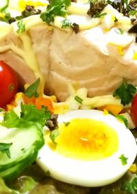 簡単オシャレ。鮭のコンソメ煮サラダ風