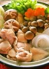 生マロニーの鶏水炊き