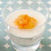 豆乳と金柑のブランマンジェ