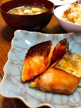 鮭の塩メープル風味