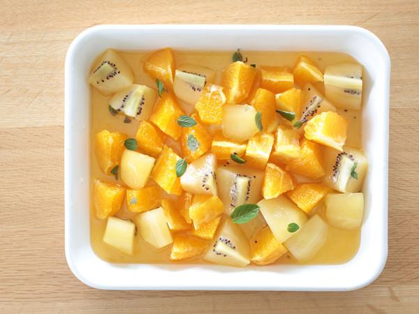キウイとオレンジのメイプルシロップマリネ