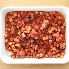 タコとひよこ豆のトマト煮