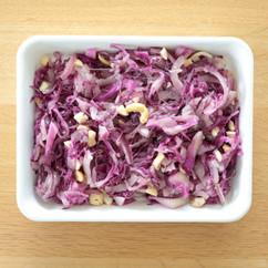 紫キャベツと紫タマネギのナッツサラダ