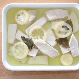 カジキのレモンオイル煮