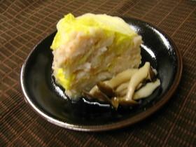 海老と白菜の重ね蒸し