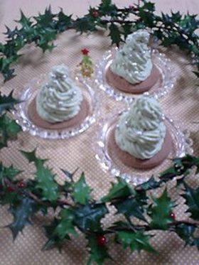 クリスマスツリー♪チーズケーキ