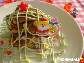 ホットケーキで子供も喜ぶ簡単ツリー☆