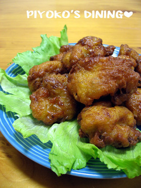 鶏のから揚げ❀コーンポタージュ味