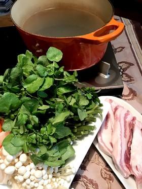 クレソン鍋