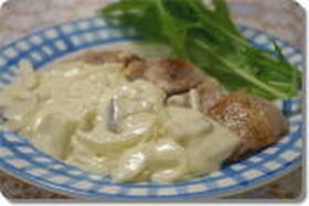 カフェ風♪豚肉のクリームソースソテー