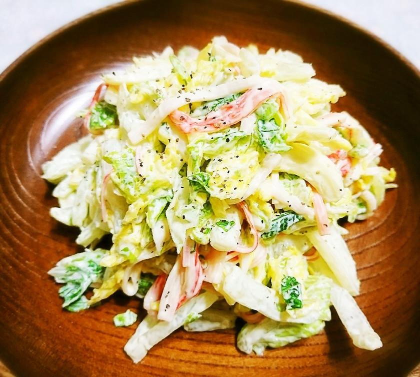 簡単☆白菜とカニかまコールスロー風サラダ