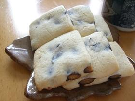 豆餅みたいな黒豆の米粉クッキー