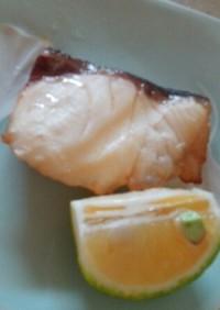メープルシロップで★魚漬け焼き★