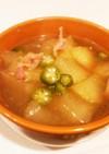 健康的♪冬瓜とオクラの野菜だしスープ