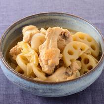 鶏手羽とれんこんのしみしみ煮