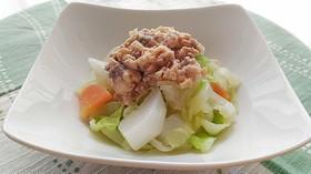 ゆで野菜と鮭のサラダ