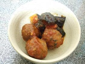 鰯団子と茄子のトマト煮