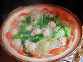 ちゃんこ風肉団子鍋