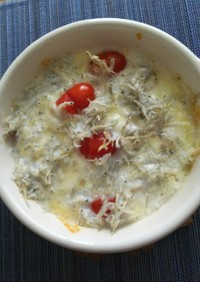 ミニトマトとモッツァレラの簡単グラタン