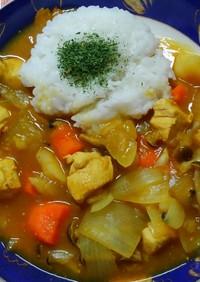 簡単夜食にも♬カレー風スープご飯 ♡*゚