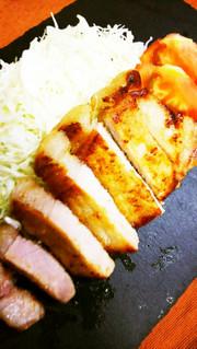 簡単!豚カツ肉の味噌漬けDEトンテキ♪の写真