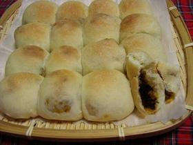 中力粉でカレーちぎりパン