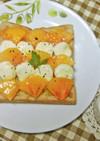 柿とクリームチーズのウェーブトースト