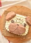 パグ☆いぬのかんたんチョコキャラケーキ