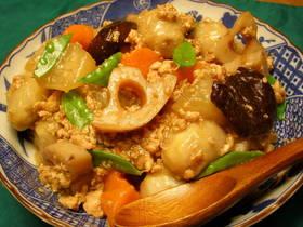 根菜と鳥ひき肉のとろりん煮