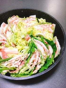 【鍋つゆ】白菜と豚バラのミルフィーユ鍋✤